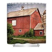 Rustic Barn Shower Curtain