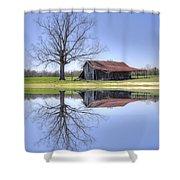 Rustic Barn Shower Curtain by David Troxel
