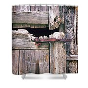 Rustic Barn Door Shower Curtain