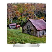 Rustic Barns Shower Curtain