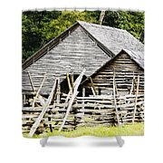 Rustic Barnyard Shower Curtain