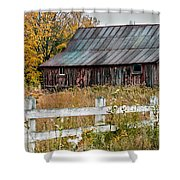 Rustic Berkshire Barn Shower Curtain