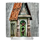 Rustic Birdhouse Shower Curtain