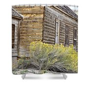 Rustic Building Shower Curtain