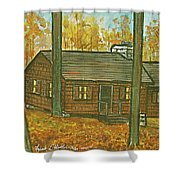 Rustic Cabin At Lake Hope Ohio Shower Curtain