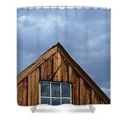 Rustic Cabin Window Shower Curtain