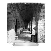 Rustic Castle Inn Hall 2 Shower Curtain