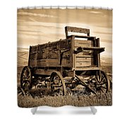 Rustic Covered Wagon Shower Curtain