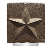 Rustic Five Point Star Shower Curtain