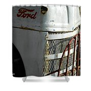 Rustic Ford Work Horse Shower Curtain