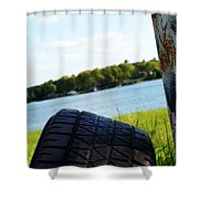Rustic Lake Scene 1 Shower Curtain