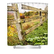 Rustic Landscapes - Broken Fence Shower Curtain