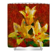 Rustic Lilies 2 Shower Curtain
