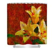 Rustic Lilies Shower Curtain