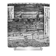 Rustic Old Colorado Barn Door And Window Bw Shower Curtain