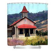 Rustic Old Schoolhouse Near San Simeon California Shower Curtain