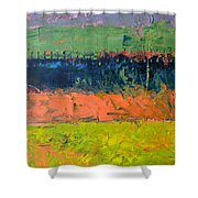 Rustic Roadside Series - Pond Shower Curtain
