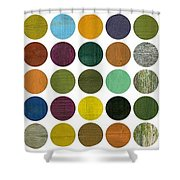 Rustic Rounds 75 Number Two Shower Curtain
