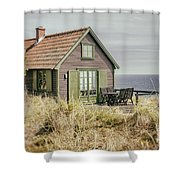 Rustic Seaside Cottage Shower Curtain