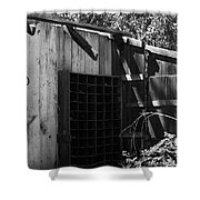 Rustic Shed Shower Curtain