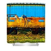 Rustic Tank Art Shower Curtain