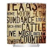Rustic Texas Art Shower Curtain