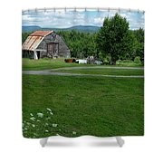 Rustic Vermont Barn Shower Curtain