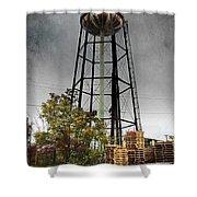 Rustic Water Tower Shower Curtain