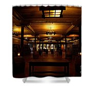 Rustic Wine Cellar Shower Curtain