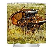 Rusting Farm Equipment Shower Curtain