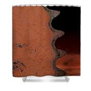 Rusting Orange Gear   #0007 Shower Curtain