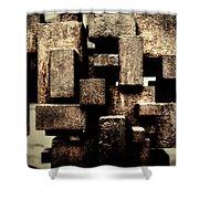 Rusty Art Shower Curtain by Joan Carroll