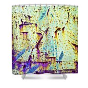 Rusty Background Shower Curtain