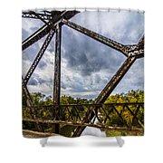 Rusty Bridge In Fall Shower Curtain