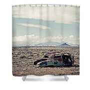 Rusty Car In Plain Shower Curtain