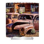 Rusty Cars  Shower Curtain