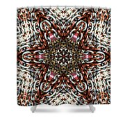Rusty Chain Link Kaleido Shower Curtain