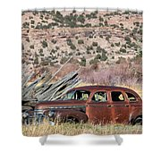 Rusty Chevrolet Special Deluxe In Manila Utah Shower Curtain