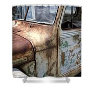 Rusty Classic Willy's Jeep Pickup Shower Curtain