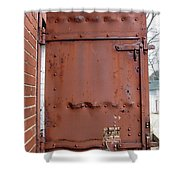 Rusty Door 1 Shower Curtain