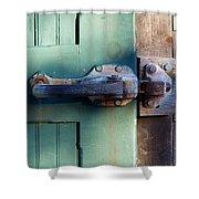 Rusty Door Latch Shower Curtain