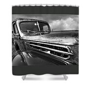 Rusty Ford 1942 Black And White Shower Curtain