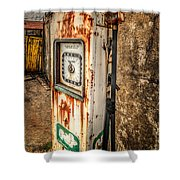 Rusty Gas Pump Shower Curtain