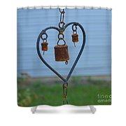 Rusty Heart 2 Shower Curtain