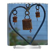 Rusty Heart 3 Shower Curtain