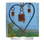 Rusty Heart 4 Shower Curtain
