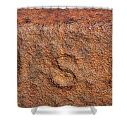 Rusty Letters Usa Shower Curtain