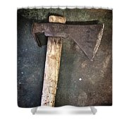 Rusty Old Axe Shower Curtain