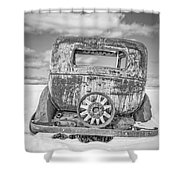 Rusty Old Car In The Snow Shower Curtain