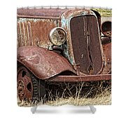 Rusty Old Chevy Shower Curtain